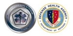 Military Health System and Defense Health Agency seals