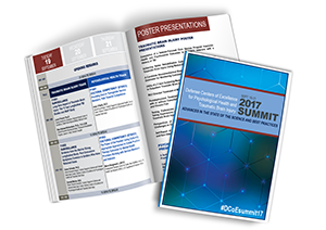 image of downloadable program book for 2017 DCoE Summit